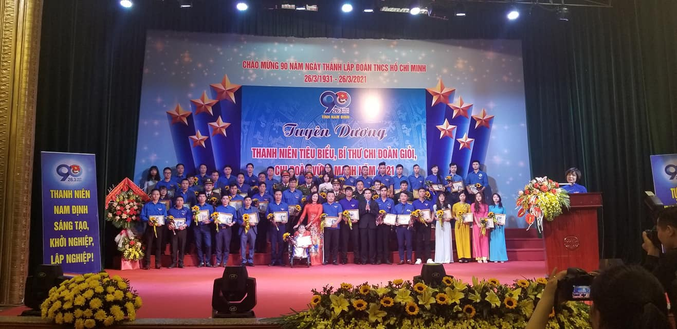 NDUN Youth was honored at the commendation ceremony of outstanding young people, excellent secretary of youth union branch, strong youth union branch in 2021